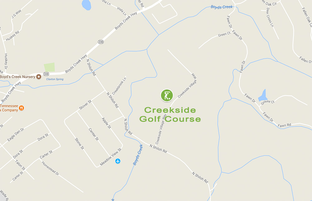 Google Map to Creekside Golf Course