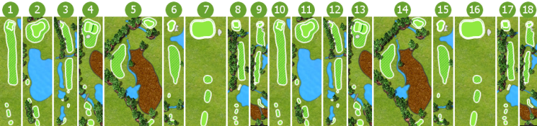 Scorecard course layout